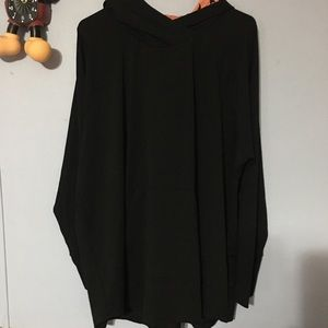 BNWOT LLR Hooded Amber Solid Black 3X